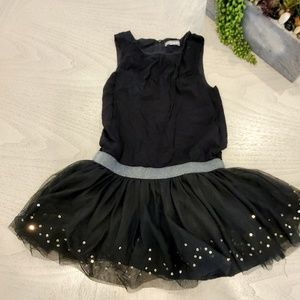 Black girls dress with gold detail